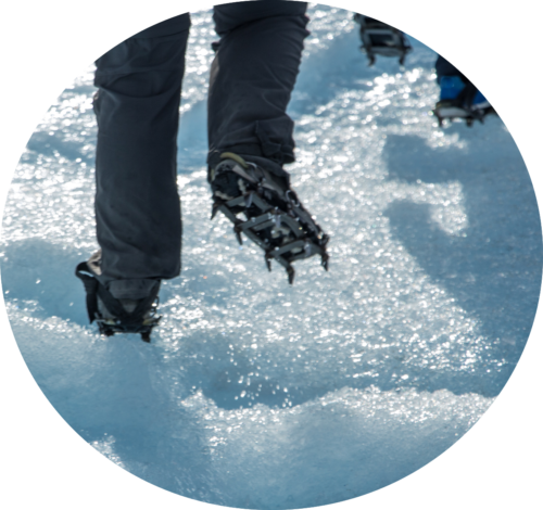 Crampons and Ice Cleats for Hiking Boots
